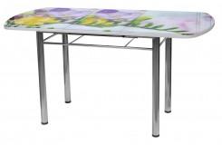 Стол обеденный раздвижной Сатурн В5 (Цветы)