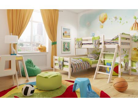 """Вариант 8 Угловая кровать """"Соня"""" с наклонной лестницей"""