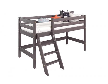 """Вариант 12 Низкая кровать """"Соня"""" Лаванда с наклонной лестницей"""