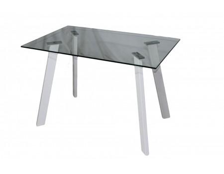 Стол обеденный DT-09 (Прозрачный/Белый)