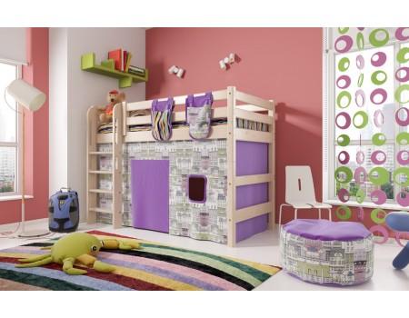 """Вариант 5 Полувысокая кровать """"Соня"""" с прямой лестницей"""