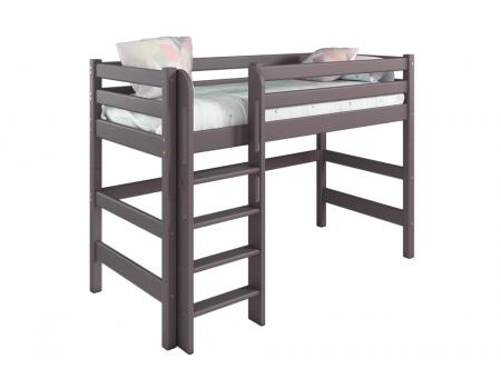 """Вариант 5 Полувысокая кровать """"Соня"""" Лаванда с прямой лестницей"""