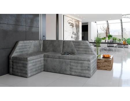 Скамья угловая со спальным местом «Лондон» (Дуб сонома трюфель/Велюр серый)
