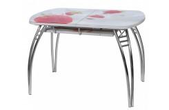 Стол обеденный раздвижной Меркурий В1 (Клубника)