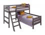 """Вариант 8 Угловая кровать """"Соня"""" Лаванда с наклонной лестницей"""