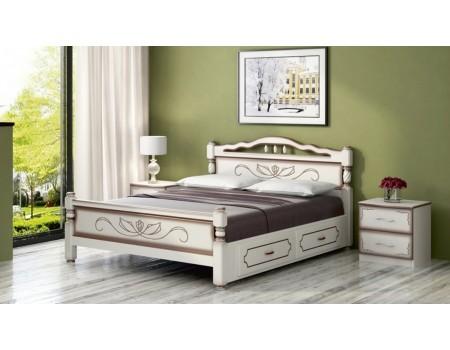 Кровать из массива «Карина-5» с ящиками