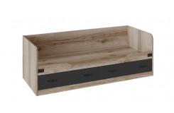 Кровать с ящиками «Окланд» (Фон Черный/Дуб Делано)