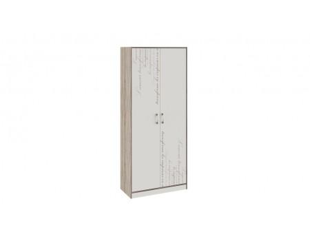Шкаф для одежды «Брауни» (Фон бежевый с рисунком/Дуб Сонома трюфель)