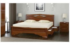 Кровать из массива «Елена-3» с ящиками