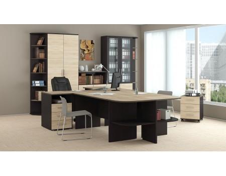 «Успех-2» модульная мебель для офиса (Венге Цаво, Дуб Сонома)