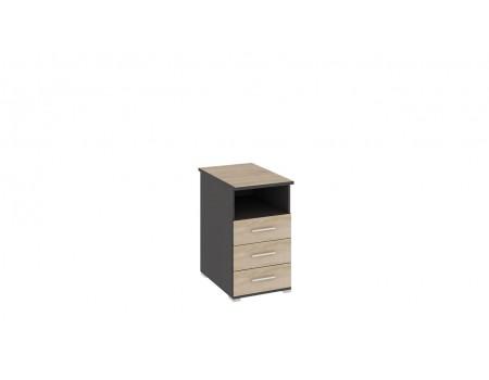 Тумба с ящиками приставная «Успех-2» (Венге Цаво, Дуб Сонома)