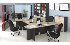 Набор офисной мебели для кабинета руководителя №3 «Успех-2» (Венге Цаво, Дуб Сонома)