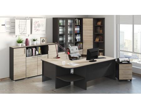 Набор офисной мебели для кабинета руководителя №4 «Успех-2» (Венге Цаво, Дуб Сонома)