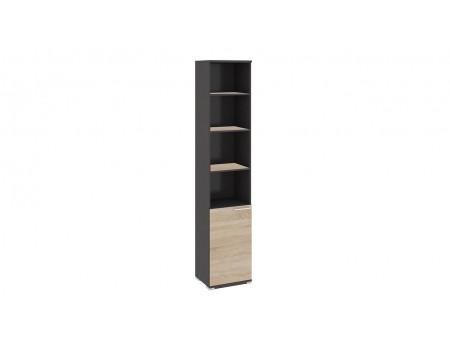 Шкаф для документов с нишей и 1-й дверью «Успех-2» (Венге Цаво, Дуб Сонома)