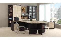 Набор офисной мебели для кабинета руководителя №1 «Успех-2» (Венге Цаво, Дуб Сонома)