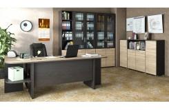 Набор офисной мебели для кабинета руководителя №2 «Успех-2» (Венге Цаво, Дуб Сонома)