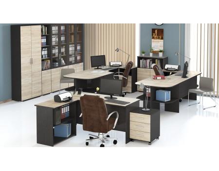 Набор офисной мебели для кабинета руководителя №5 «Успех-2» (Венге Цаво, Дуб Сонома)